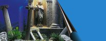 Foto pozadí  50cm římské sloupy/modré