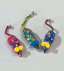 Hračka myš FLOWER 7cm s rol.3ks