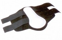 Kamaše přední bílé PVC/Neop