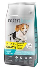 Nutrilove pes granule JUNIOR S-M fresh kuře 8kg