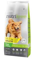 Nutrilove pes granule SENIOR fresh kuře 12kg