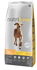 Nutrilove pes granule ACTIVE fresh kuře 12kg