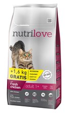 Nutrilove kočka granule ADULT fresh kuře 8kg